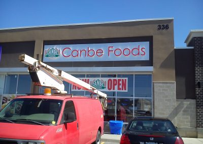 channel letters Canbe Foods 3D sign