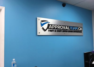 Approval Team 3D office Sign