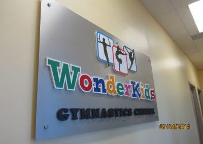 Wonder Kids office sign