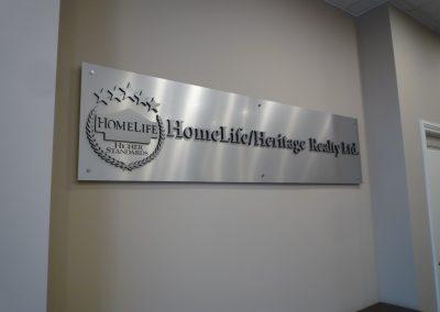 Homelife Aluminum 3D signs